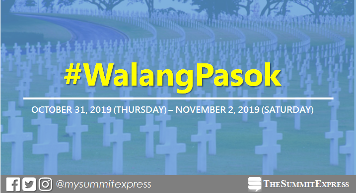 #WalangPasok: Class, work suspensions for Thursday, October 31, 2019