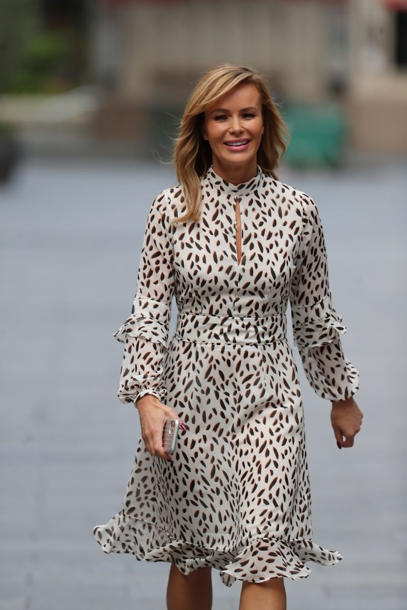 Amanda Holden Spotted at Heart Radio in London 4 May -2020