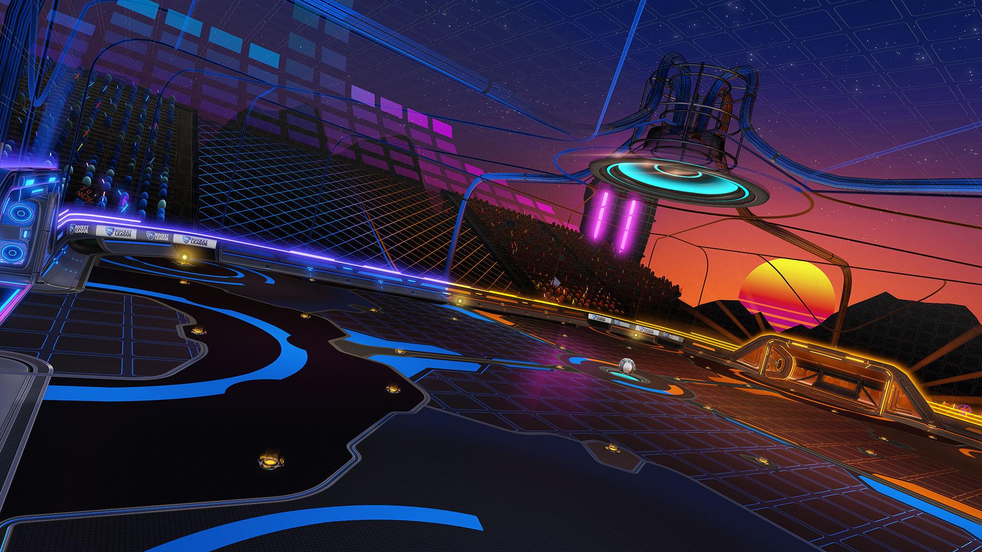 rocket league nowa mapa neon fields