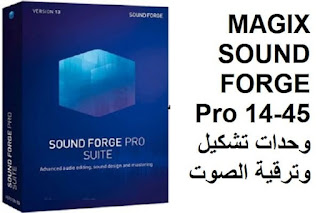 MAGIX SOUND FORGE Pro 14-45 وحدات تشكيل وترقية الصوت