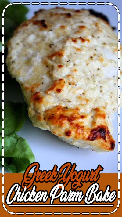 Greek Yogurt Chicken Parm Bake....Best healthy parm chicken ever. Even the Marine and the kids loved it. Super easy and quick -Tammy