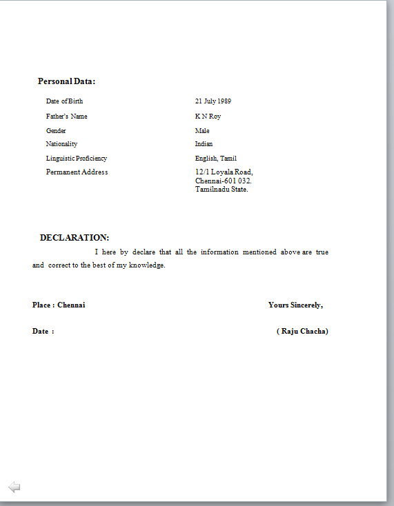 Select Template Right Justified Bengawan Solo Standard Resume