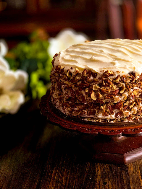 The Best Carrot Cake Ever with Ultra Creamy Cream Cheese Frosting sets the bar for all carrot cakes.  The cake is incredibly moist from a generous amount of finely shredded fresh carrots and blanketed with a velvety frosting that completes the perfection.  The Best Carrot Cake Ever!