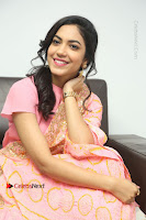 Actress Ritu Varma Pos in Beautiful Pink Anarkali Dress at at Keshava Movie Interview .COM 0306.JPG