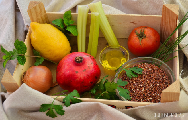 INGREDIENTS - QUINOA AND POMEGRANATE TABBOULEH
