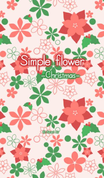 Simple flower -Christmas-