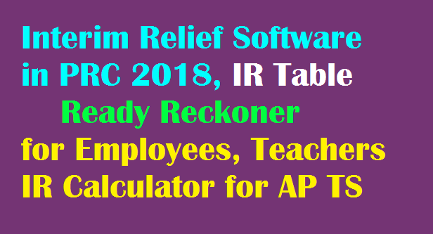 IR Interim Relief Software IR Table 27 Percent for