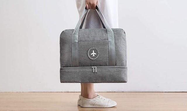 【好物介紹】Aiyo0o 簡約灰多功能手提斜揹袋 實用又防水