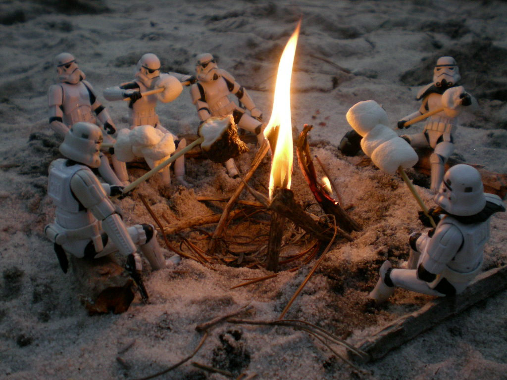 Stormtrooper's Day Off: Sitting around the campfire