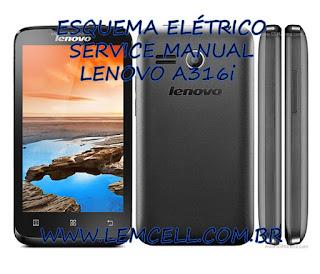 Esquema Elétrico Smartphone Celular Lenovo A316i Manual de Serviço Service Manual schematic Diagram Cell Phone Smartphone Lenovo A316i