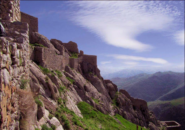 The great Babak fort on the heights of Arasbaran forest.