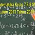 RPP Matematika Kelas 7 8 9 SMP/MTs Kurikulum 2013 Tahun 2018/2019