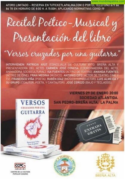 Versos Cruzados por una guitarra, de Francisco Viña y Luis Almeida, llega este viernes a la Sociedad Atlántida de Breña Alta