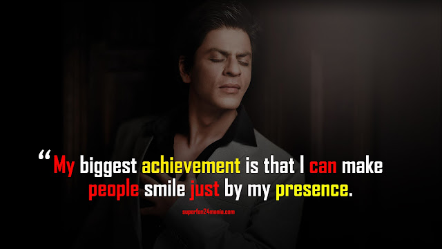 My biggest achievement is that I can make people smile just by my presence.