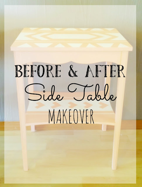 Aztec side table makeover
