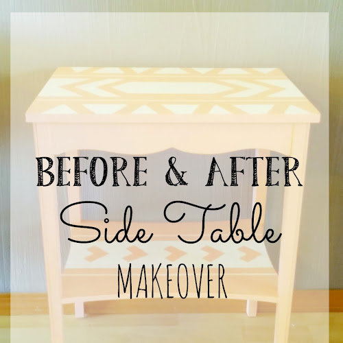 Before and After - Side Table Makeover