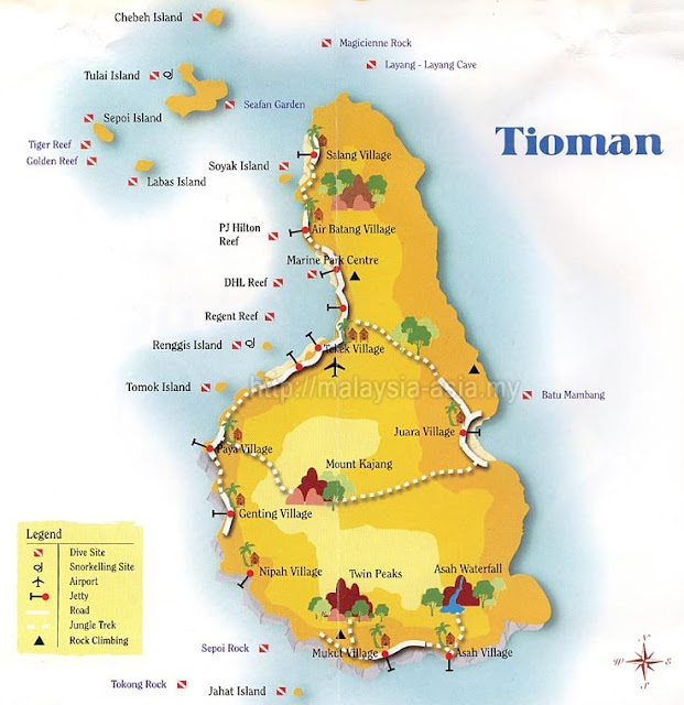 Dive Sites for Tioman Island