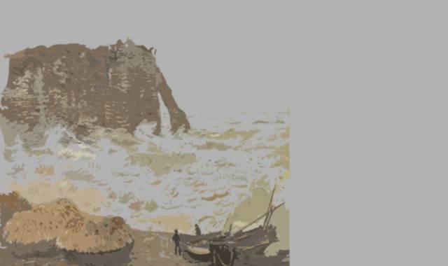 Meereslandschaft Ufer und Felsen