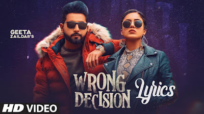 Wrong Decision Lyrics