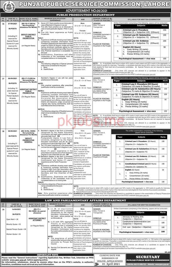 Latest Punjab Public Service Commission Management Posts 2021