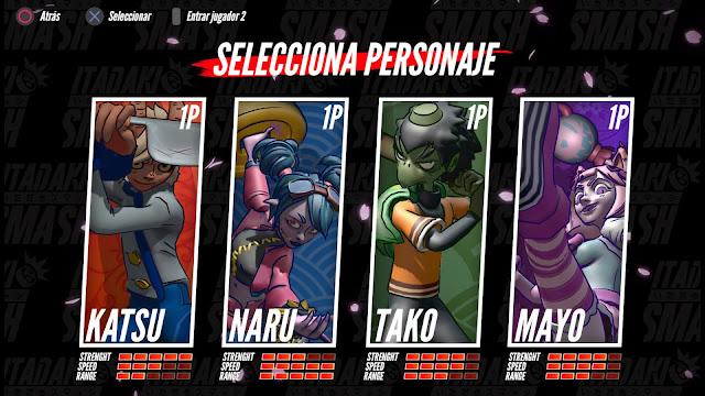 Itadaki Smash - selección personajes