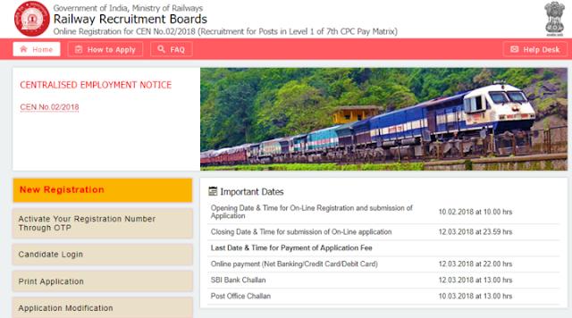 RRB Railway Group D 2018: Important Dates