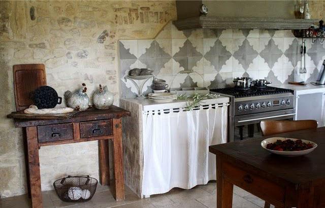 Estilo rustico pequenas mesitas de cocina - Cocinas de campo ...