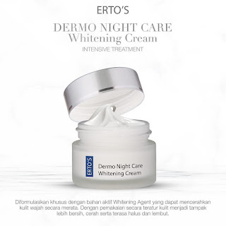 Ertos Dermo Night Care Whitening Cream Intensive Treatment Original BPOM