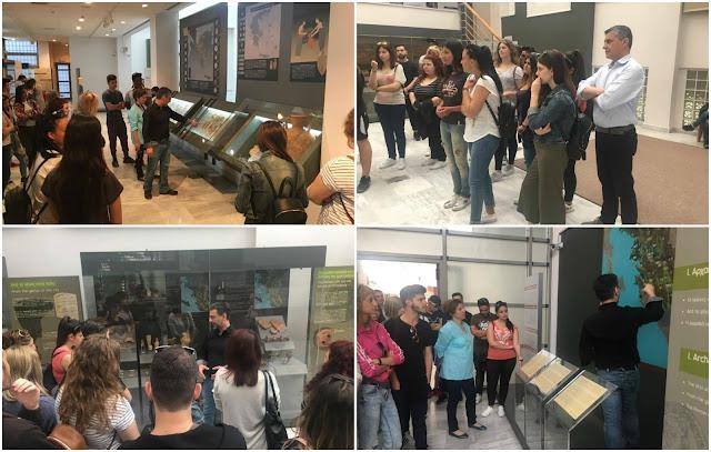 Φοιτητές του τμήματος Διοίκησης Επιχειρήσεων στο Αρχαιολογικό Μουσείο Ηγουμενίτσας (+ΦΩΤΟ)