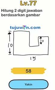Kunci Jawaban Brain out Level 77 Hitung 2 Digit Jawaban Berdasarkan Gambar