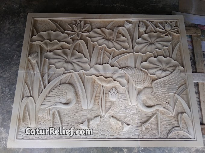 Relief Batu Alam Paras Jogja