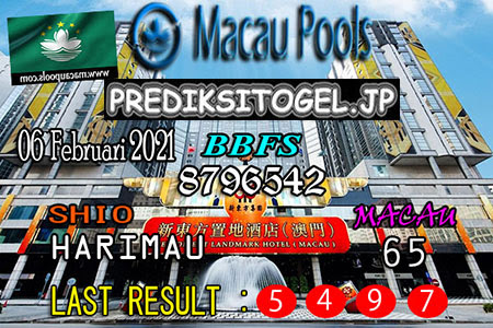 Prediksi Togel Macau Wangsit Sabtu, 6 Februari 2021