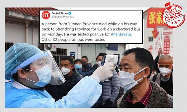 hantavirus tewaskan pria di provinsi yunnan china
