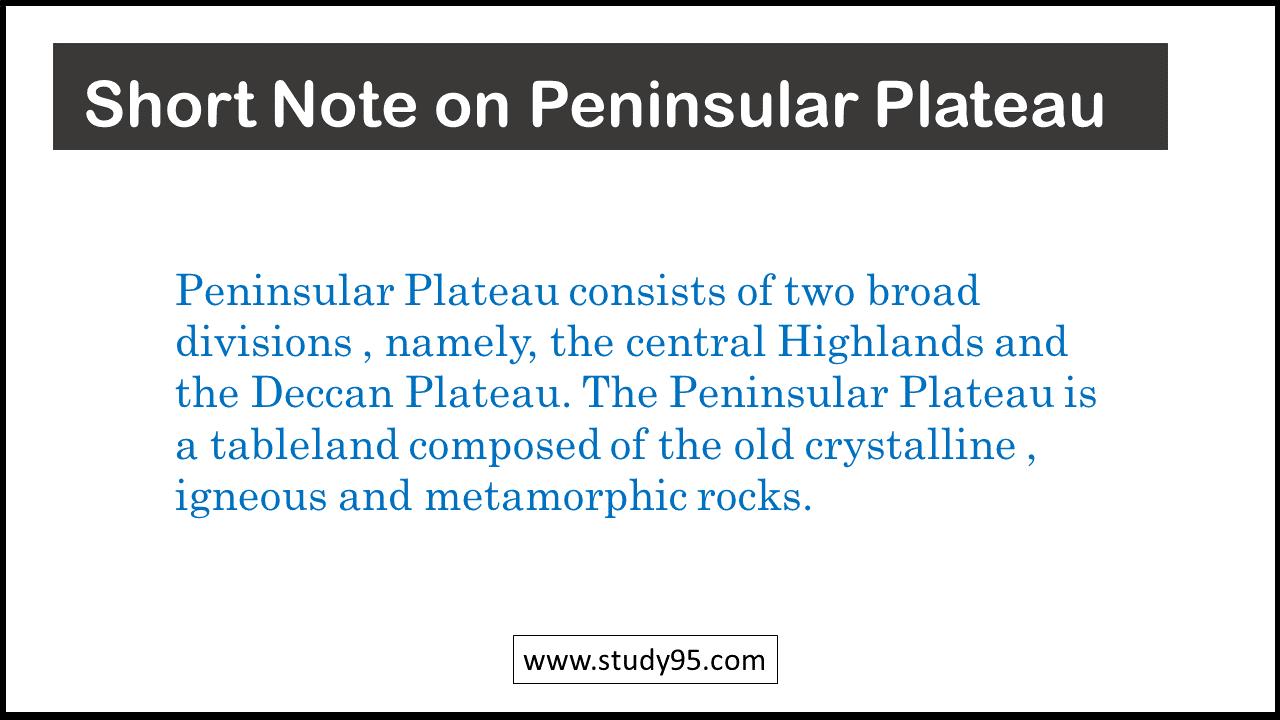 Lines on Peninsular Plateau