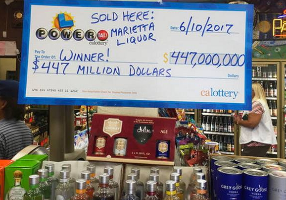 liquor store california $447million powerball jackpot winner bought ticket
