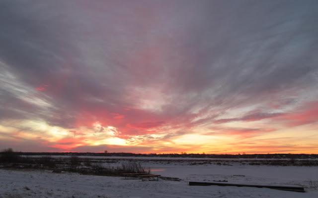 красивый восход солнца