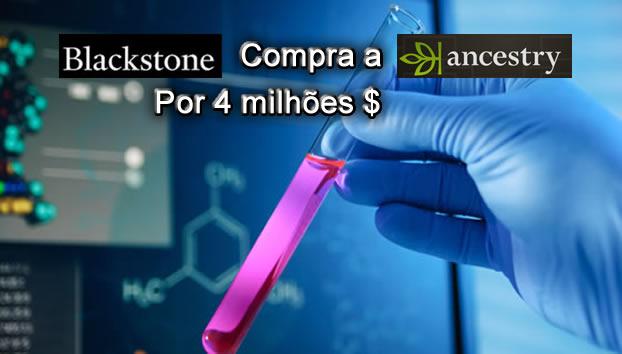 """Blackstone compra """"Ancestry"""". Bases de dados genéticos."""