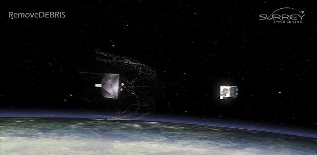 RemoveDebris, sampah luar angkasa, pembersihan sampah luar angkasa, space debris cleanup