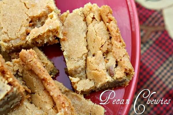 Pecan Chewies - Southern Pecan Cookie Bars