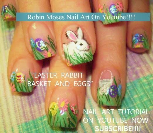 Nail Art By Robin Moses Easter Nail Art Design Tutorials For 2015