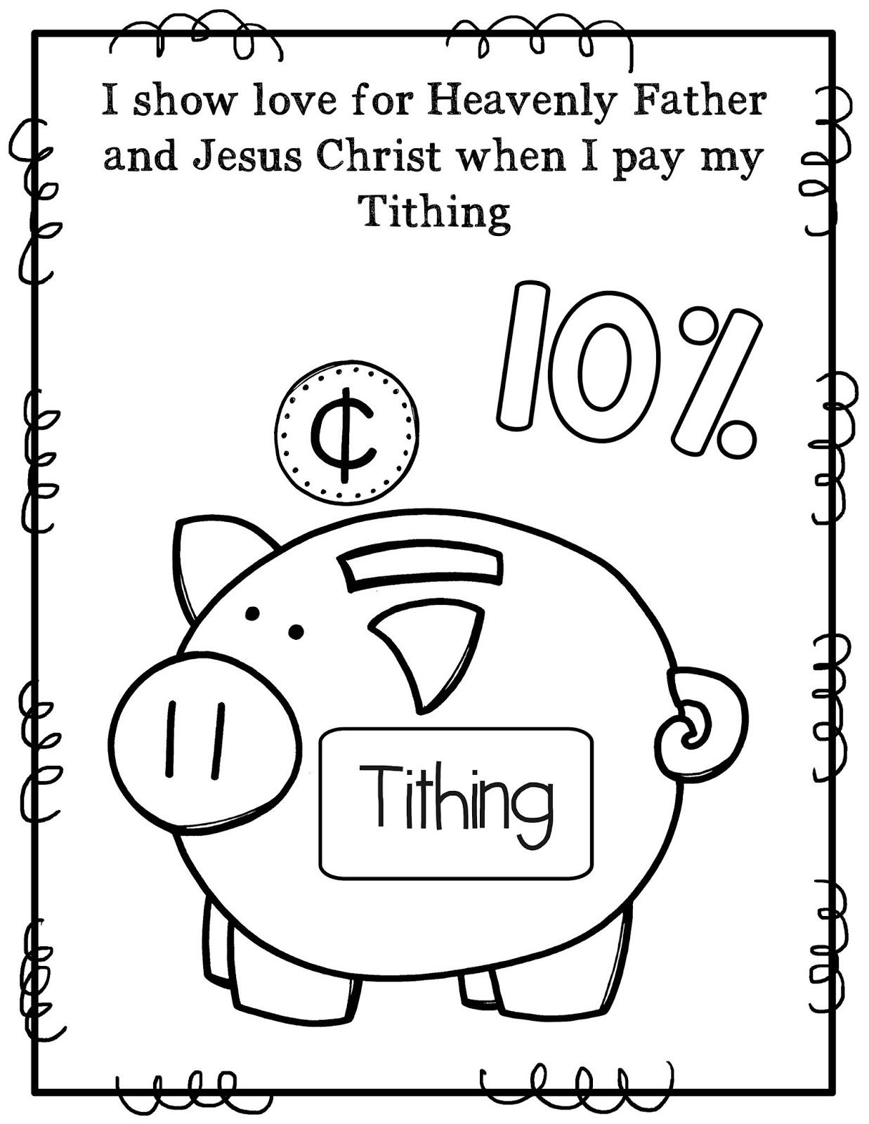 tithing coloring pages - photo#14