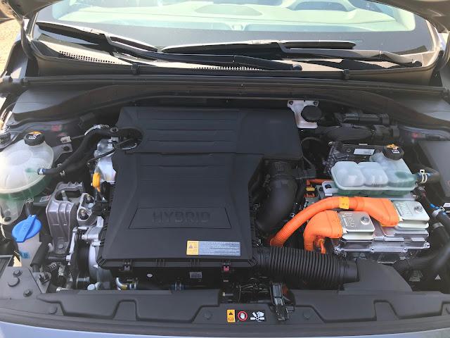 Engine in 2020 Hyundai Ioniq HEV Limited