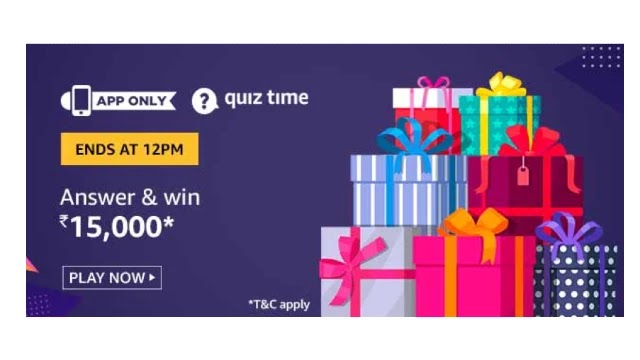 Amazon ₹15000 Pay Balance Quiz Answers - Today 6th July 2020