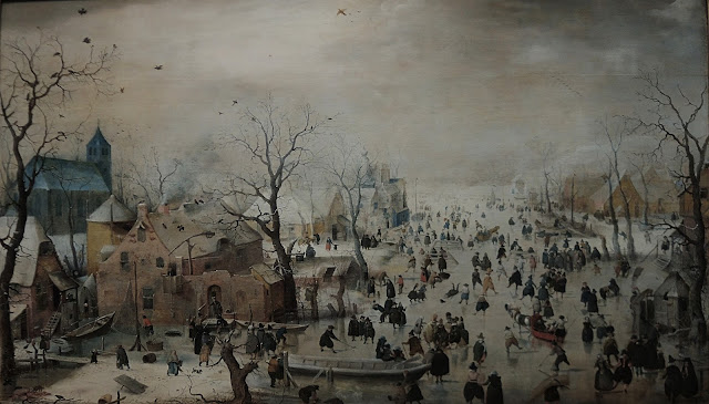 winterlandschap door Avercamp