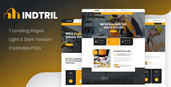 Download Construction & Renovation PSD Template
