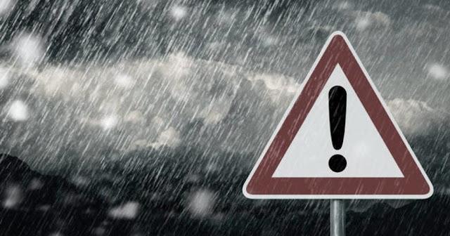 Έκτακτη ανακοίνωση για επικίνδυνα καιρικά φαινόμενα