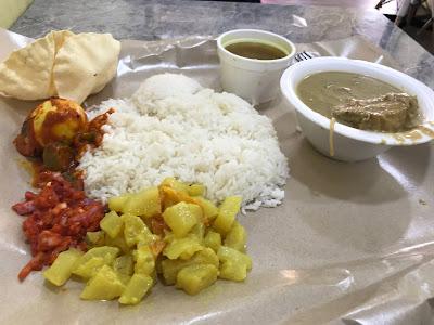 Barakhath, fish kurma rice meal