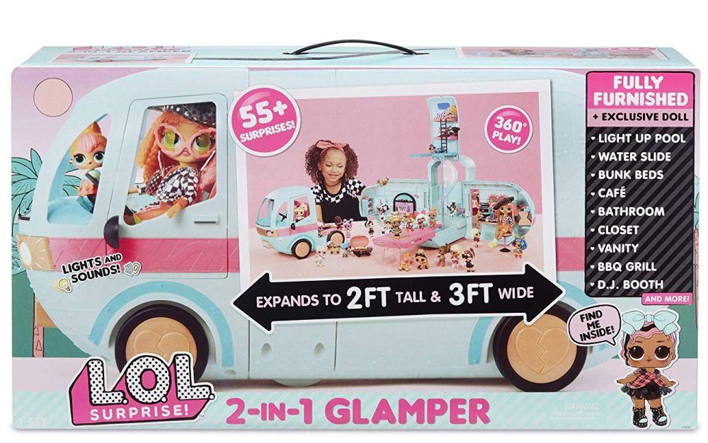 Большой фургон для кукол Лол Сюрприз на колесах Glamper