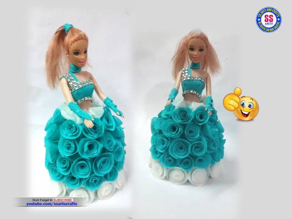 How To Make Doll Dress With Shopping Bag