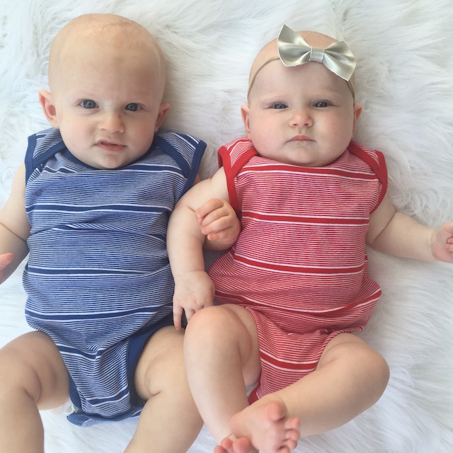 Baby style, twins, twin blog, 6 month twins, boy girl twins, baby fashion, baby bow